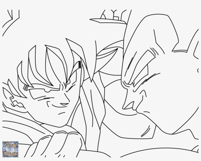 Vs Vegeta At Easy To Draw Goku Vs Vegeta Png Image