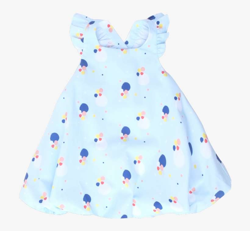 17fc5e6ea638 Baby Blue Confetti Dress PNG Image
