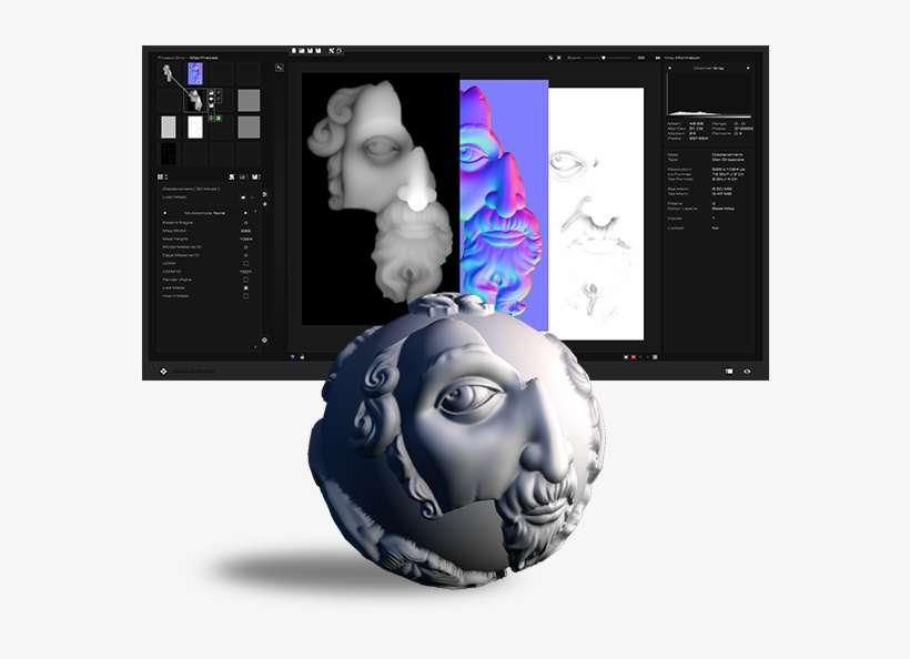 Normal Map Generator - 3d Modeling PNG Image   Transparent
