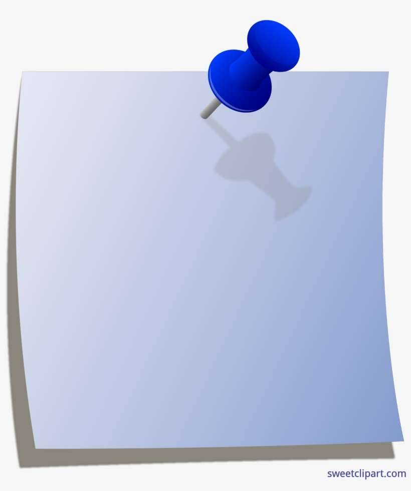 Note Clipart Paper Note Blue Post It Note Clip Art Png Image Transparent Png Free Download On Seekpng