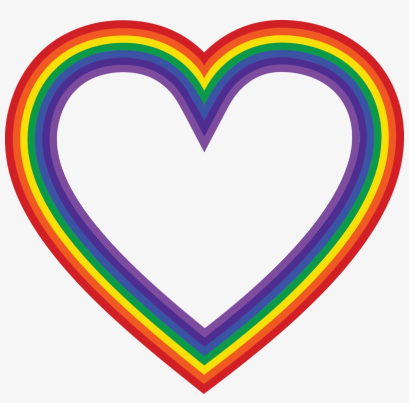 1974 Free Clipart Of A Rainbow Heart Real Images Free Rainbow Heart Clipart Png Image Transparent Png Free Download On Seekpng