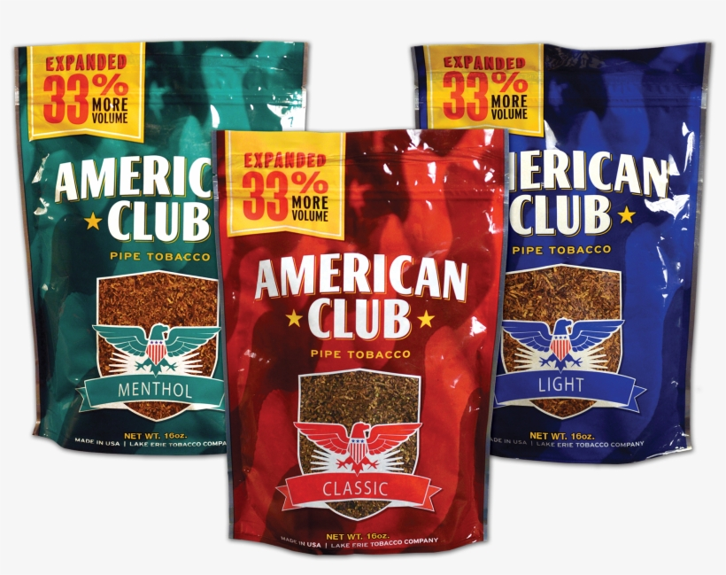 Assorted Seneca Products - American Club Blue Tobacco PNG Image