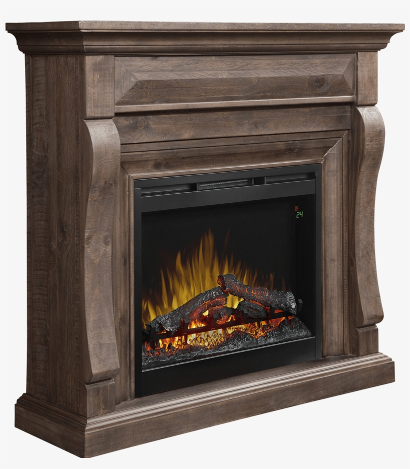 Electric Fireplace With Hidden Media