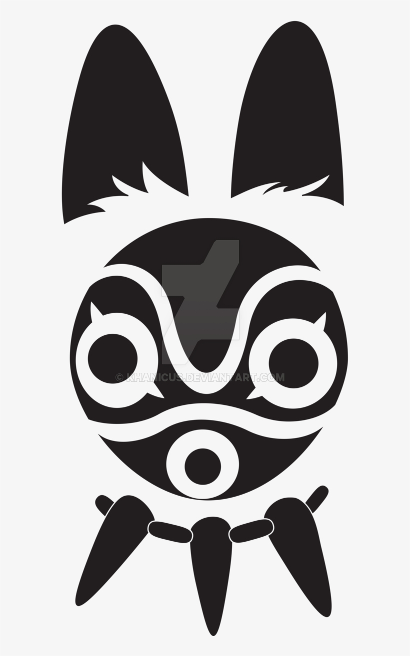 Studio Ghibli Princess Mononoke Mask Decal Png Image Transparent Png Free Download On Seekpng