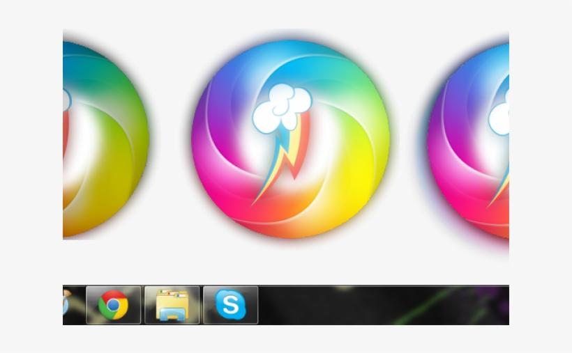 Orbs Clipart Windows 7 - Windows Start Button Mlp PNG Image