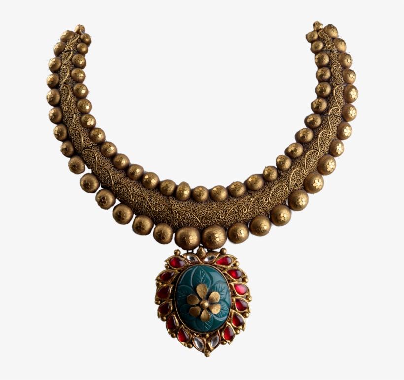 Chettinad Antique Gold Necklace Designs 5356 11 Child Safety Bracelet Png Image Transparent Png Free Download On Seekpng
