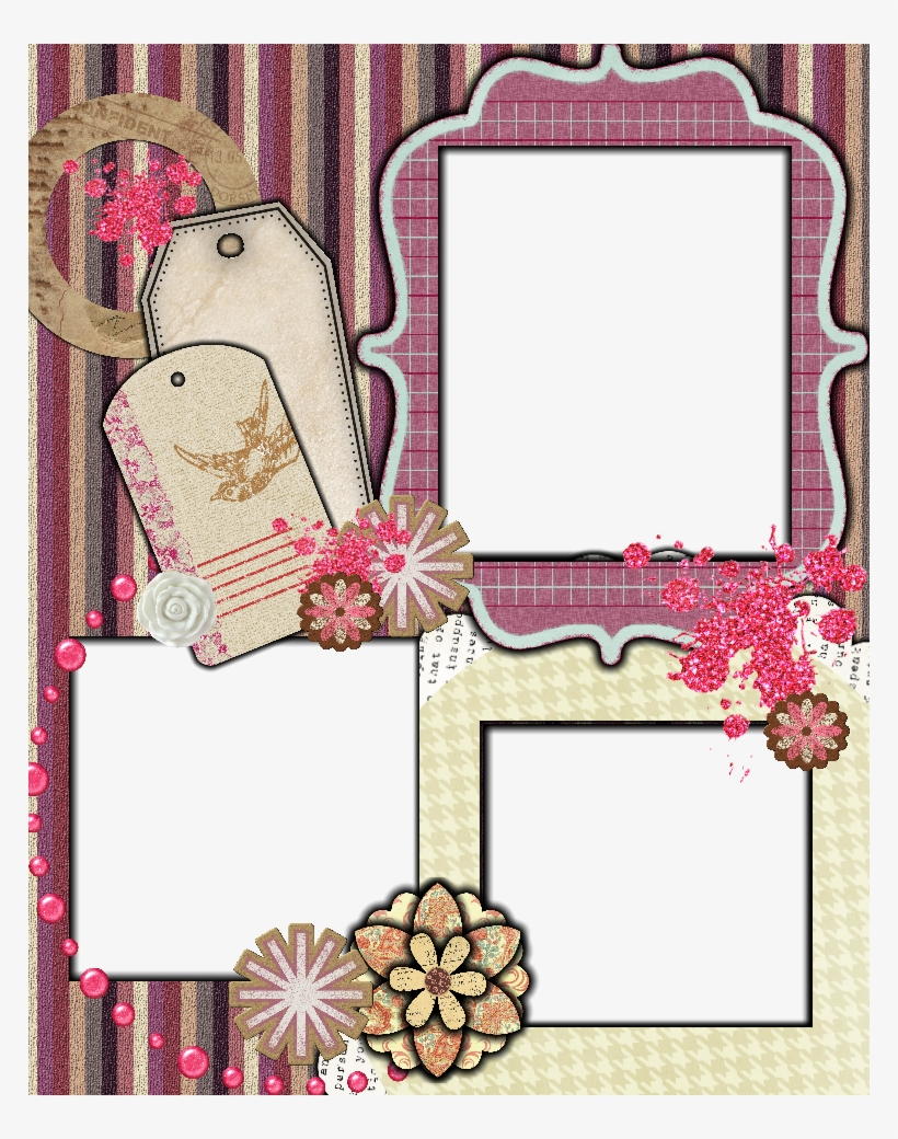 Sweetly Scrapped Free Scrapbook Layout Template Scrapbooking
