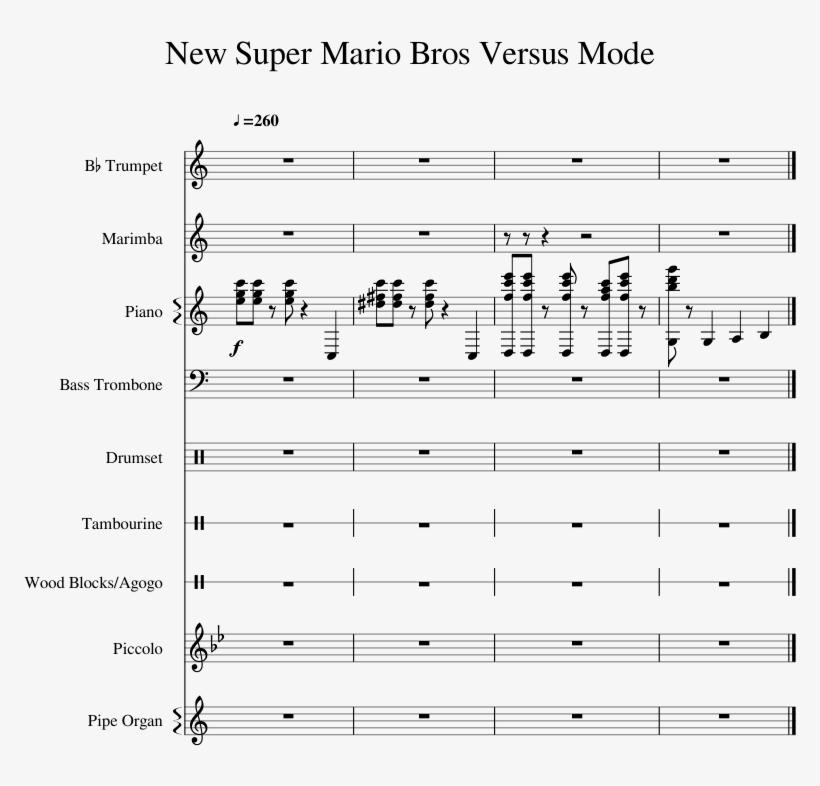 New Super Mario Bros Versus Mode Sheet Music For Piano