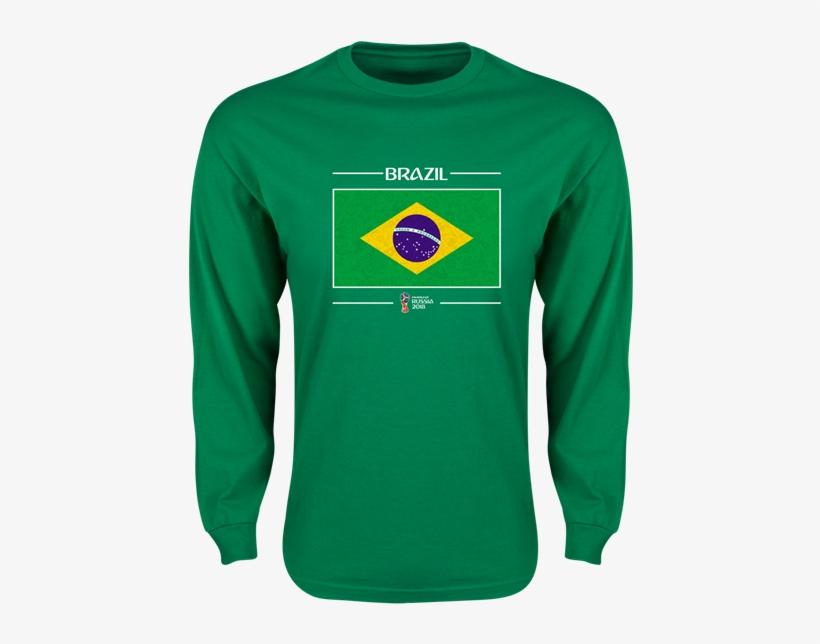 566fd1742 Brazil 2018 Fifa World Cup Russia™ Flag Mens Ls T-shirt - Brazil Russia