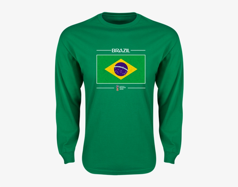 Brazil 2018 Fifa World Cup Russia™ Flag Mens Ls T-shirt - Brazil Russia 5b4d76fe2