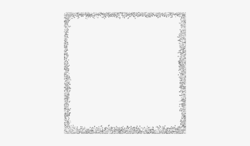 Snowflakes Frame Png - Silver Glitter Border Png@seekpng.com
