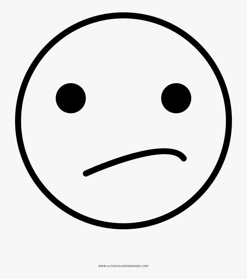 Confused Face Coloring Page - Smiley PNG Image Transparent PNG Free  Download On SeekPNG