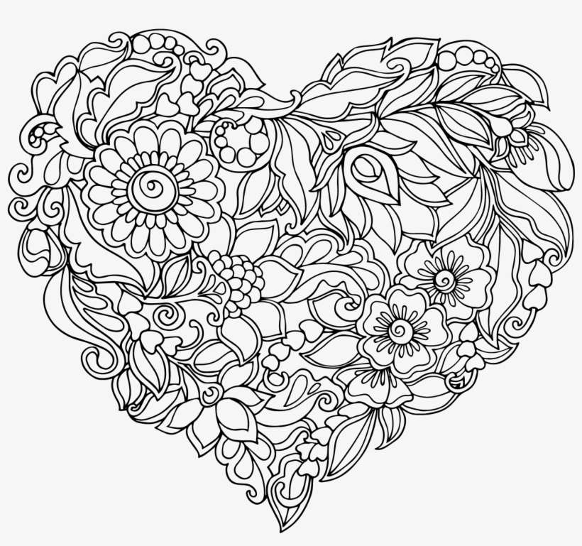 Royalty Free Library Heart Shaped Pattern Transprent Mandala Colouring Pages Heart Png Image Transparent Png Free Download On Seekpng