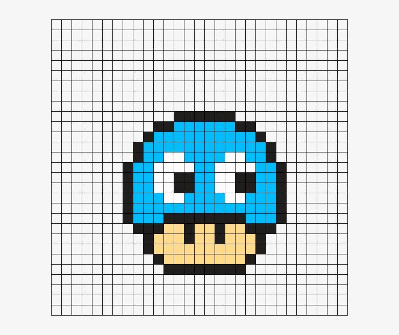 Pac Man Mushroom Perler Bead Pattern Dessin Sur Petit