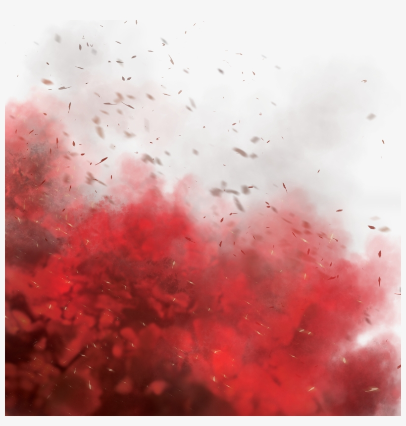 Red Smoke Overlay Effect - Flock PNG Image | Transparent PNG