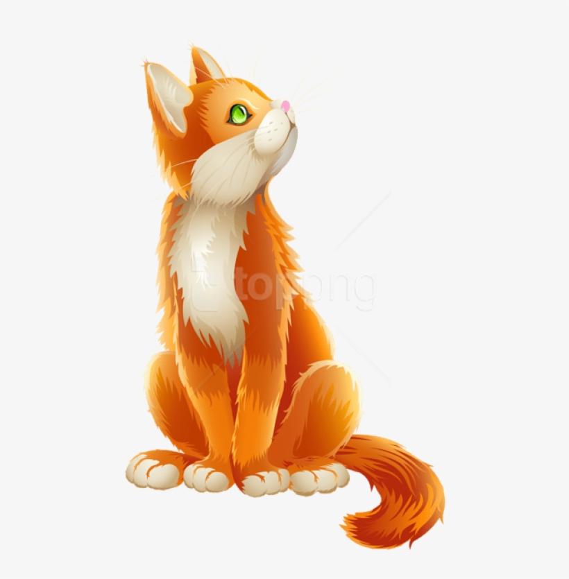 Free Png Download Orange Cat Cartoon Transparent Clipart Transparent Background Cat Clipart Png Image Transparent Png Free Download On Seekpng