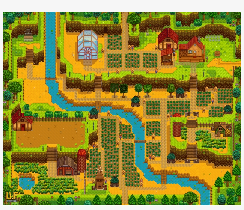 Hill Side Map Out Stardew Valley Layout Stardew Valley Stardew Valley Hilltop Farm Layout Png Image Transparent Png Free Download On Seekpng