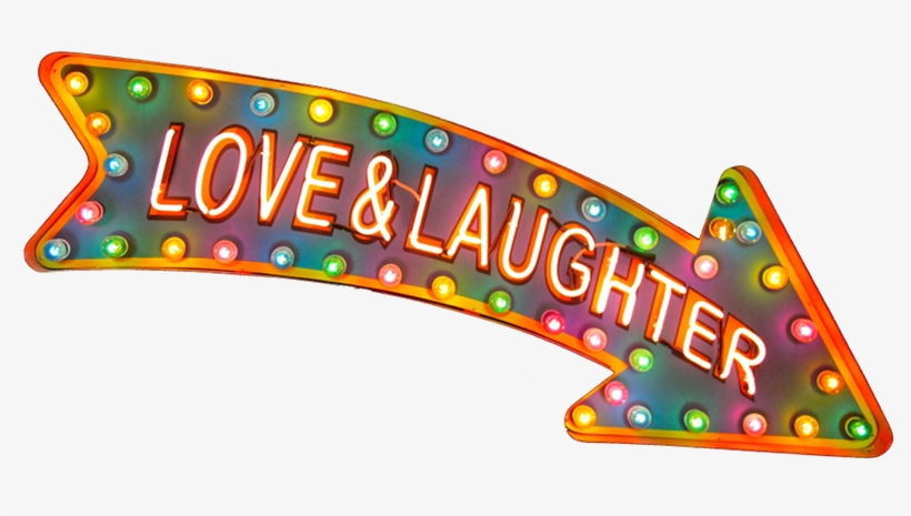 love & Laughter↷' Neon Sign ๑෴mustbasign෴๑ - Circle PNG