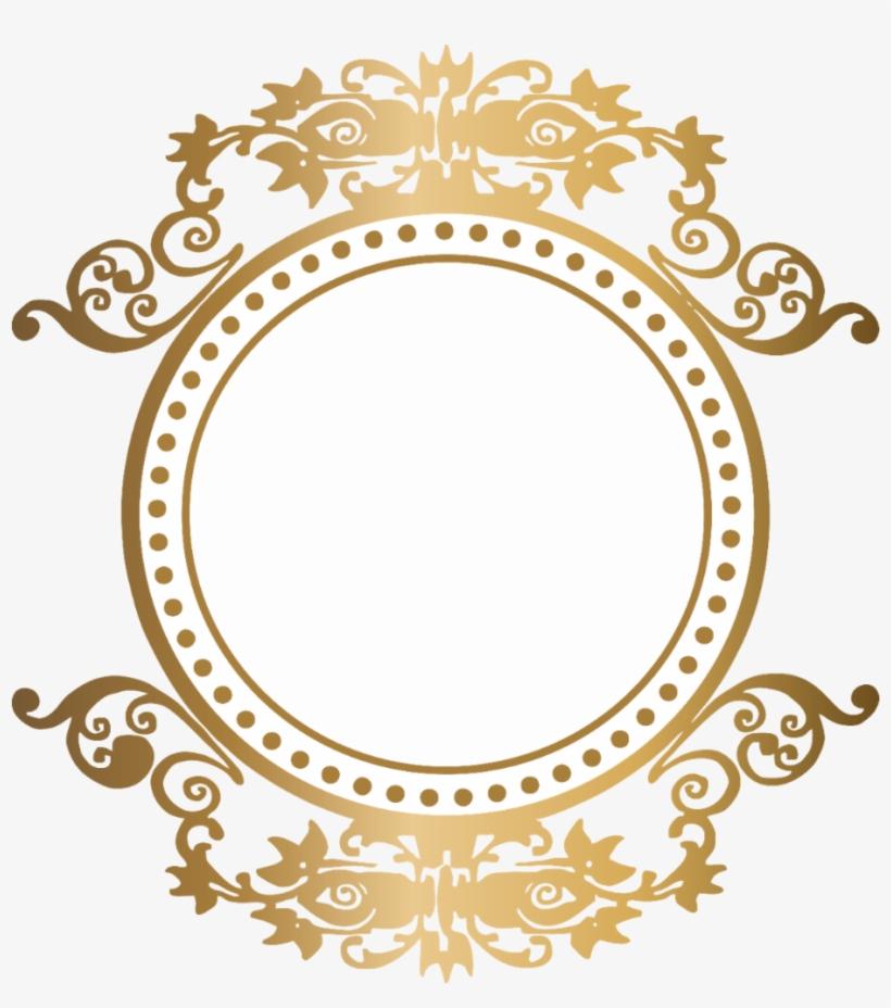 Moldura Arabesco Logomarca Brasão Dourado Monograma