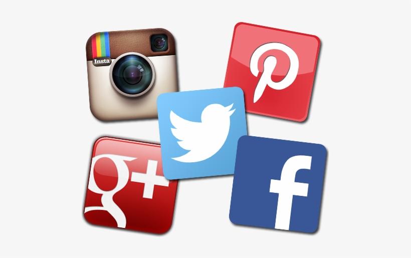 86bd7f12e2d Social Media Icons - Facebook Twitter Instagram Pinterest Google+ ...