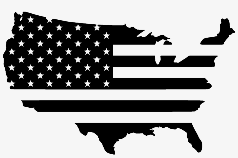 Flag-usa File Size - Us Flag Country Outline PNG Image