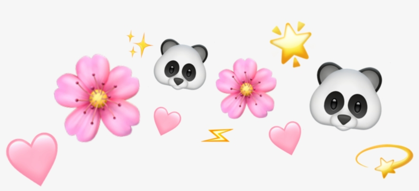 Cute Tumblr Rosa Pink Panda Emoji Whatsapp Star Shine Artificial