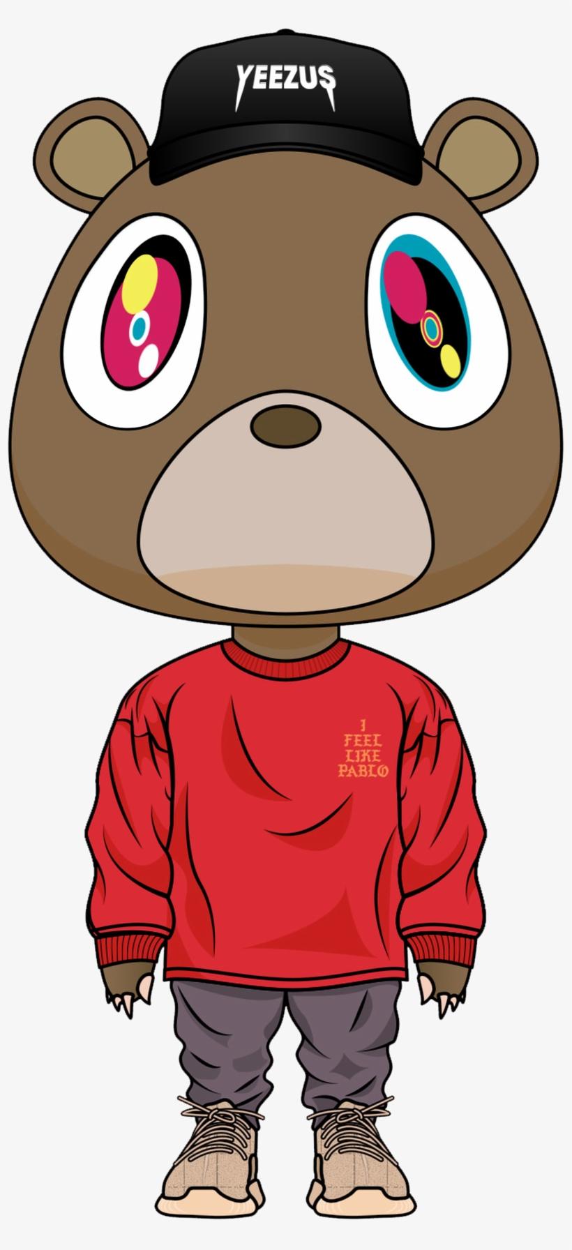 e5b0c2a3ef5cf Kanye Pablo Dropout Bear Kanye Png Yeezus Bear PNG Image ...