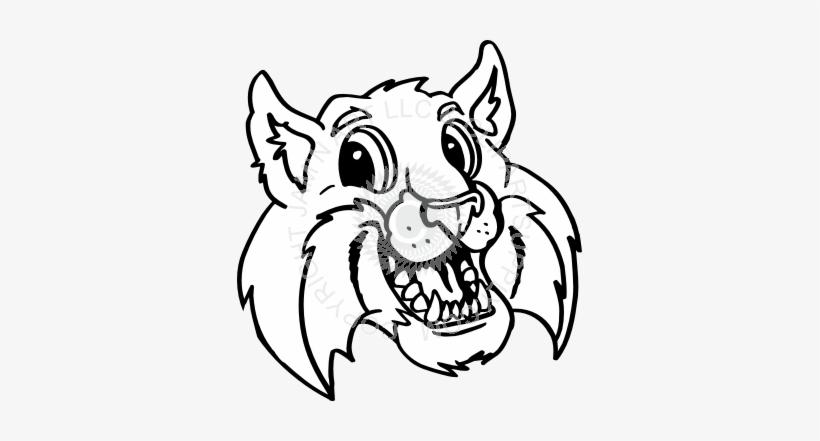 Bobcat Lynx Head Muzzle Vector Mascot Icon Royalty Image