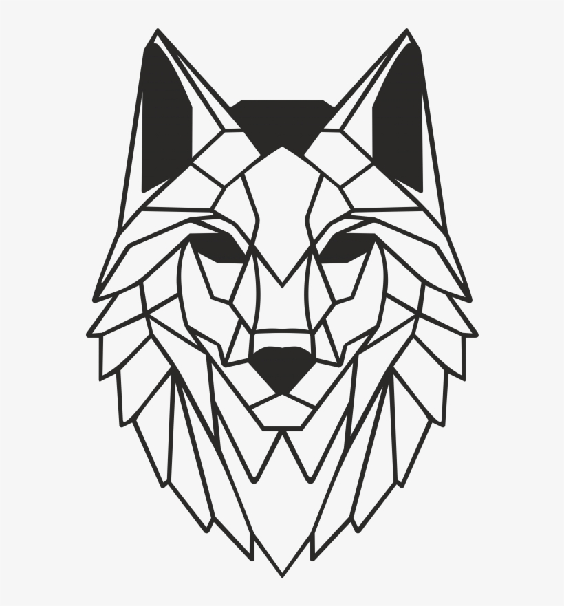 Wolf Metal Wall Art Decor Portraits Draw Wolf Face Geometric Png Image Transparent Png Free Download On Seekpng