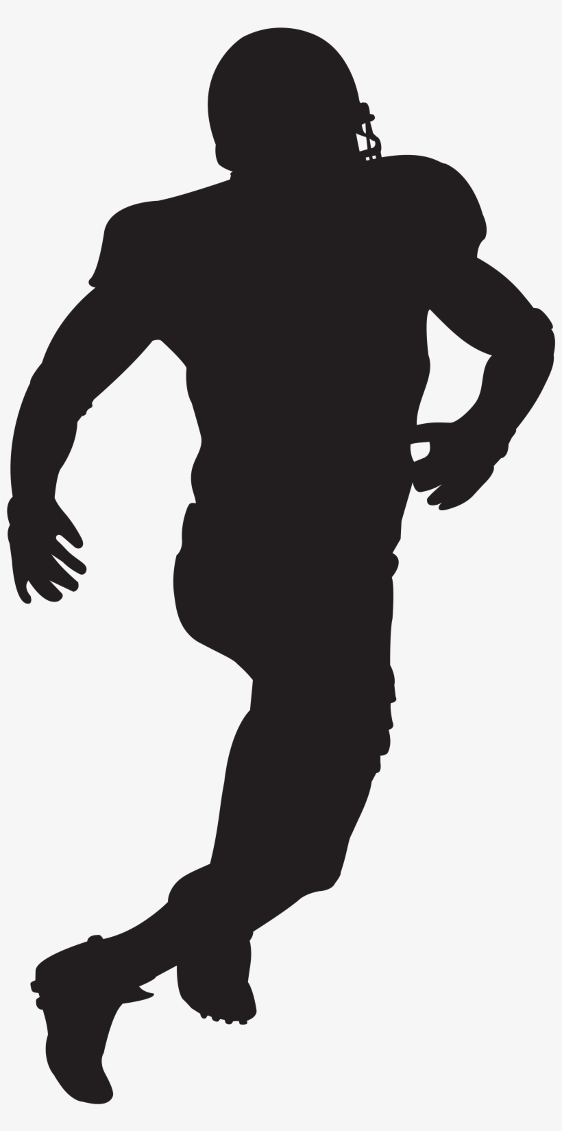 American Football Player Silhouette Clip Art Image American Football Player Clipart Transparent Png Image Transparent Png Free Download On Seekpng