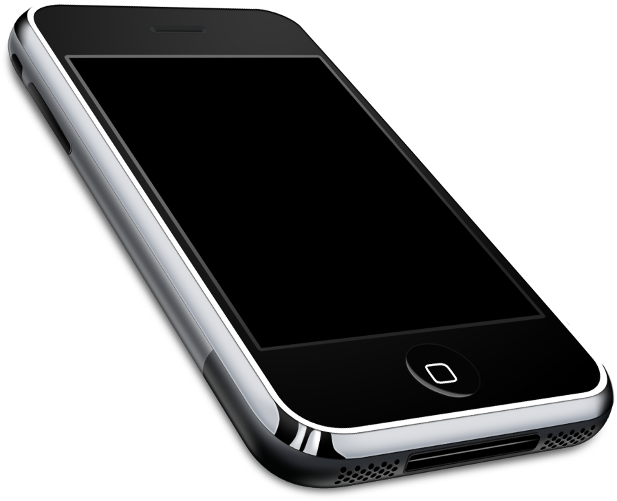 Картинка современного телефона на прозрачном фоне