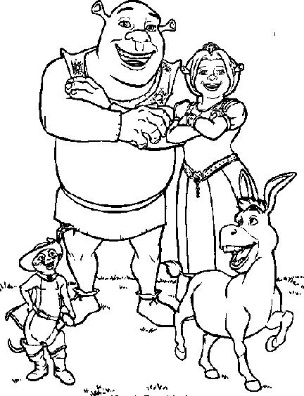 Drawing Shrek 157 Desenhos Para Colorir Shrek Full Size Png