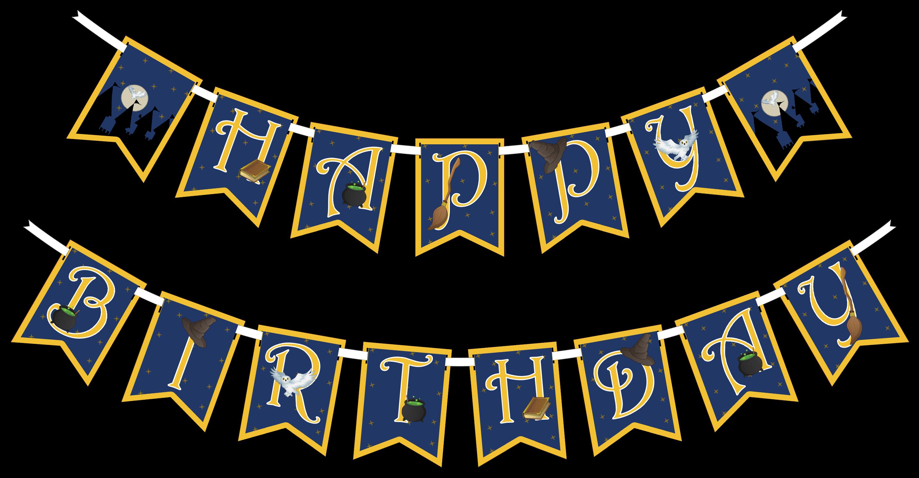 Wizard Castle Happy Birthday Party Banner Happy Birthday