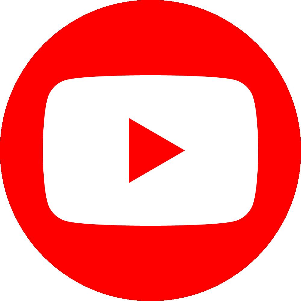 Youtube Logo Png Circle (1000x1000), Png Download
