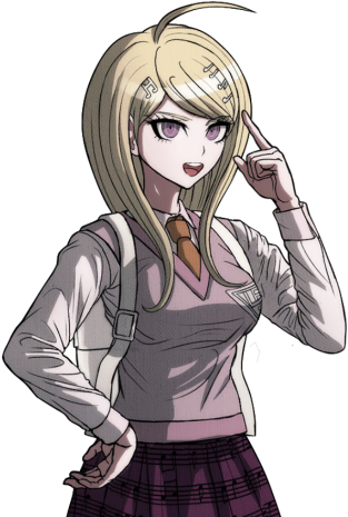 You Can T Get Spoiled For Ndrv3 If You Spoil It For Kaede Akamatsu Sprites Full Body Full Size Png Download Seekpng