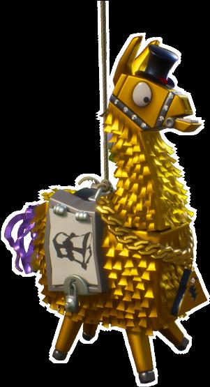 Transparent Fortnite Llama Clipart Fortnite Llama Png Clipart Free Stock Fortnite Gold Loot Llama Full Size Png Download Seekpng