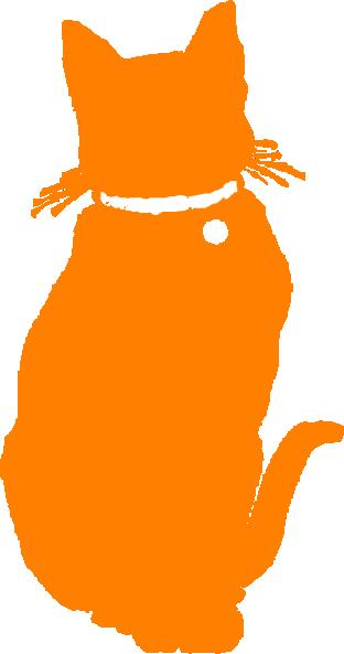 Orange Cat Collared Clip Art At Clker Orange Clip Art Cat Full Size Png Download Seekpng