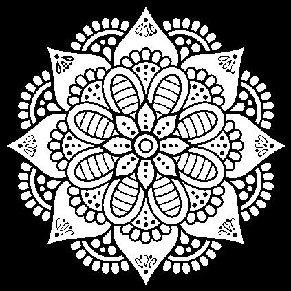 Dibujo De Mandala Flor De Primavera Para Colorear Mandalas Para