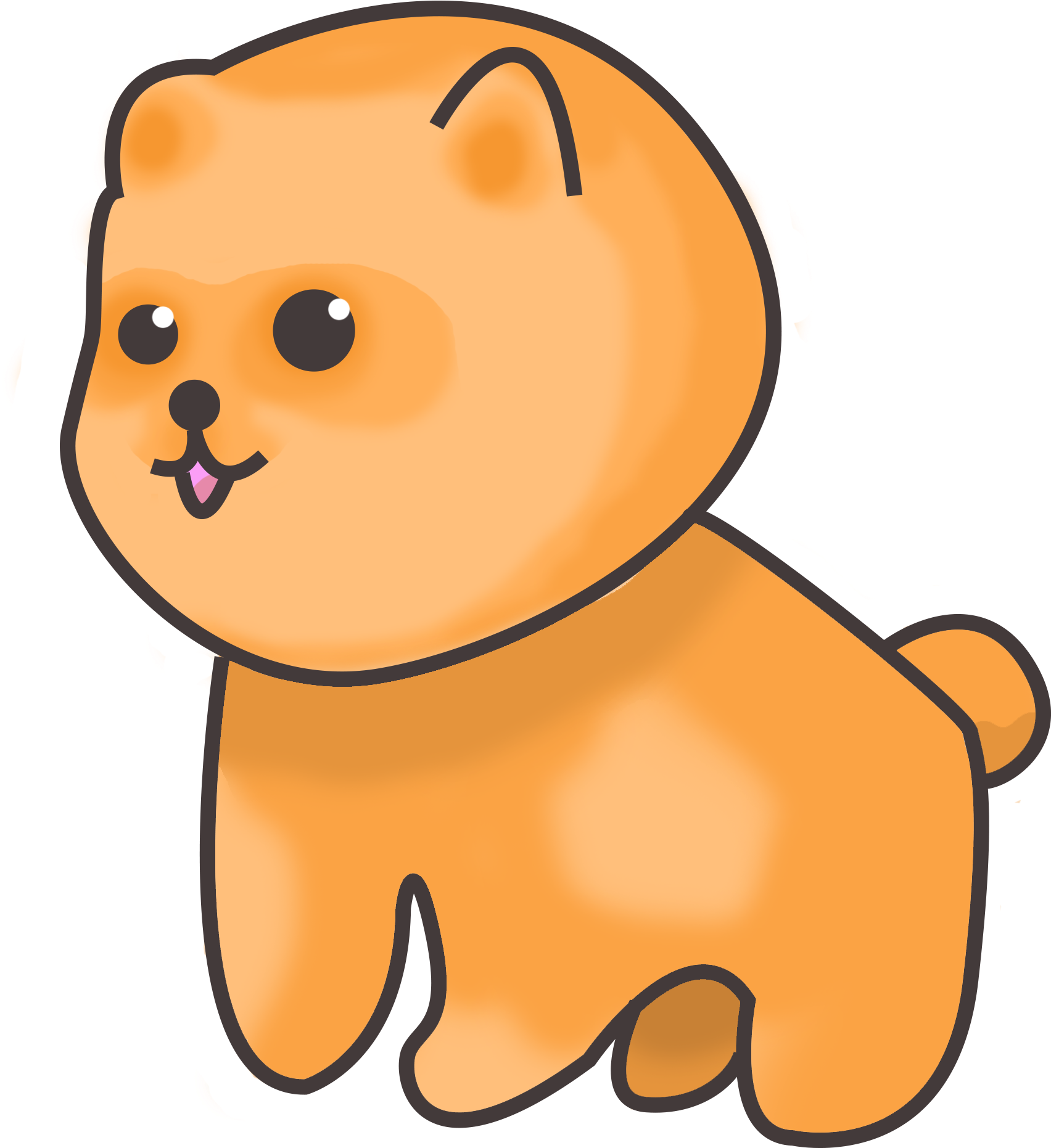 Jpg Royalty Free Stock Lucky Sketch Pomeranian Chibi Full Size Png Download Seekpng
