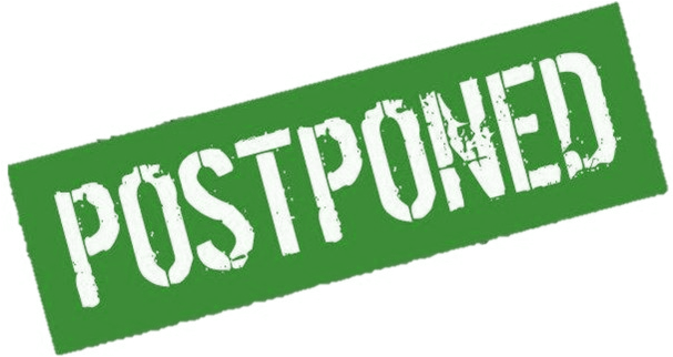 Game Postponed (606x342), Png Download