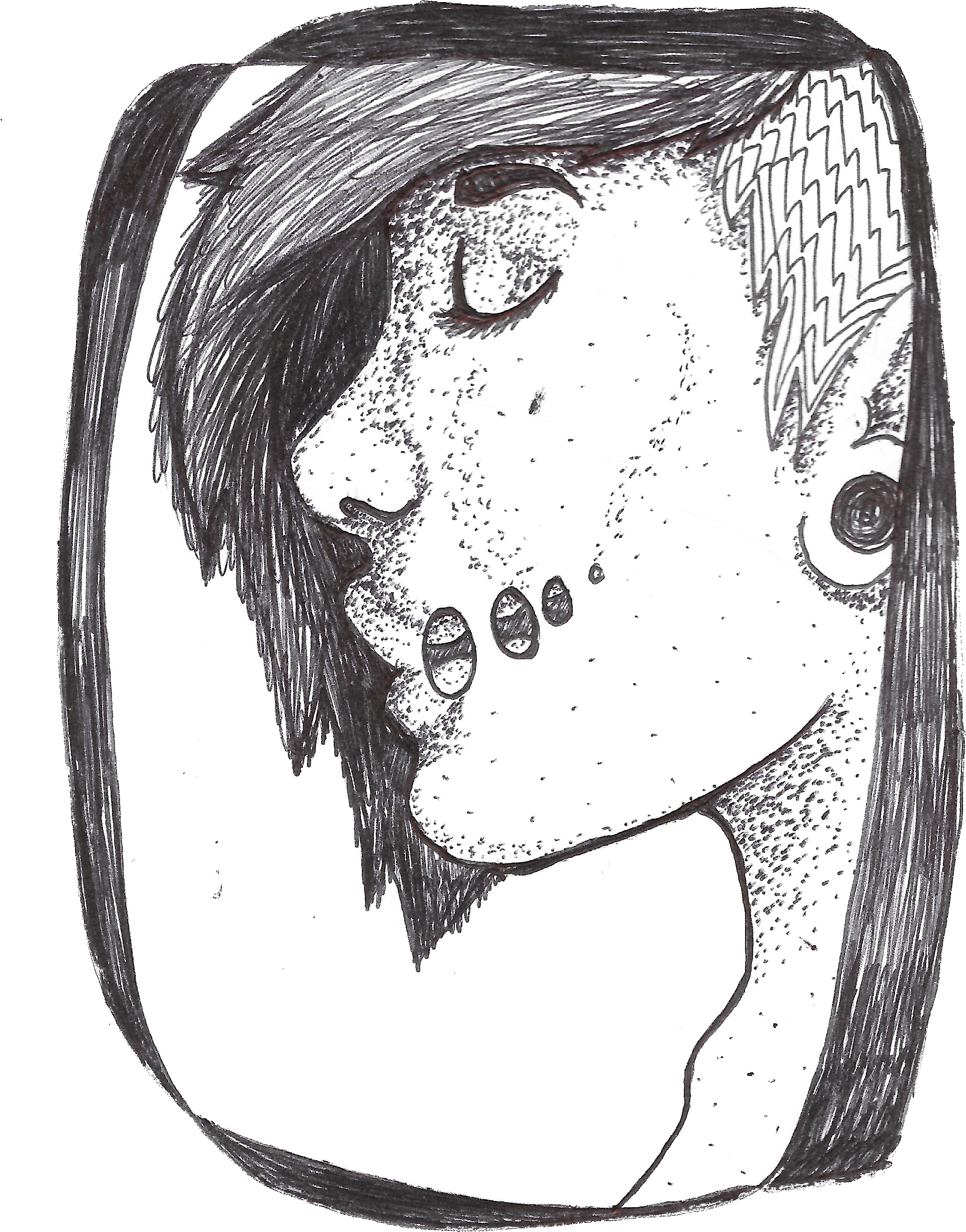 Image Freeuse Library Acid Mouth Ball Point Pen Sketch Drawing Full Size Png Download Seekpng