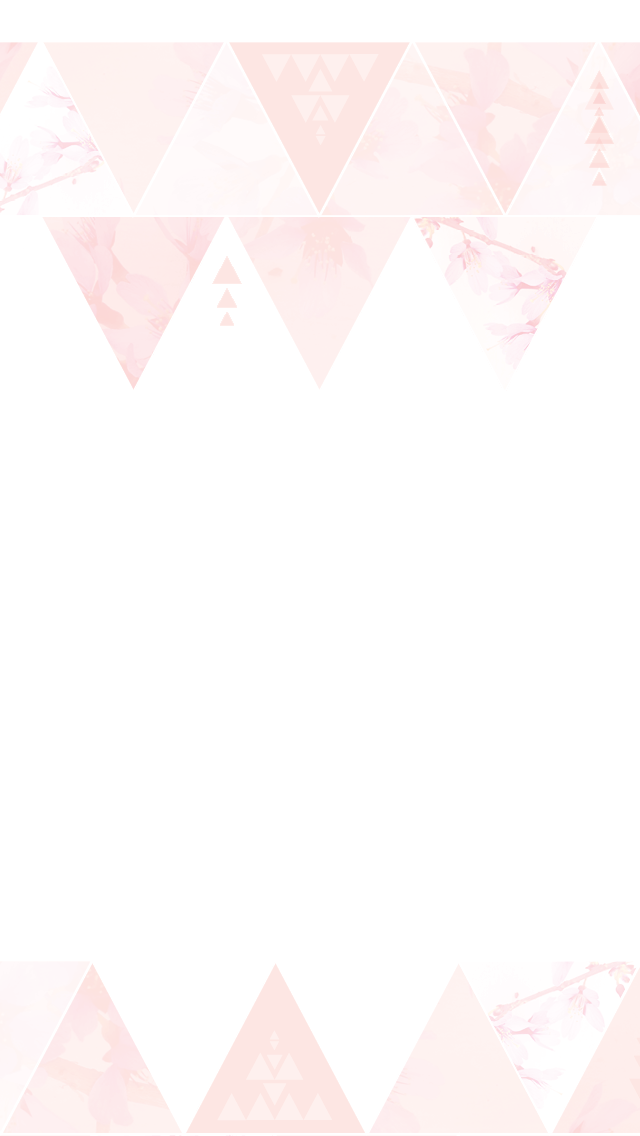 Minimal Pink Watercolour Triangles Pattern Frame Iphone