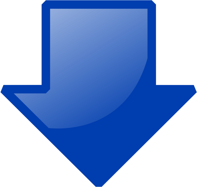 Blue Down Arrow Clip Art - Blue Arrow Pointing Down | Full Size PNG  Download | SeekPNG
