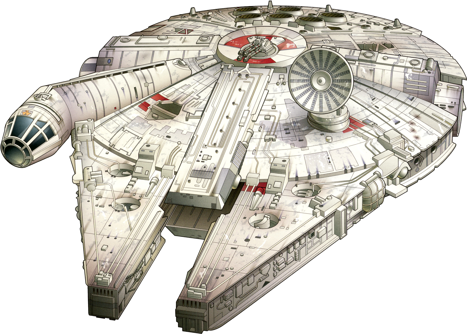 The Millennium Falcon Star Wars Space Ship Sketch Full Size Png Download Seekpng