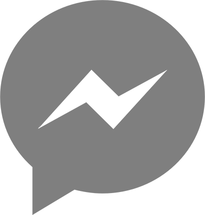 Messenger Icon Gray - Facebook Messenger (400x421), Png Download