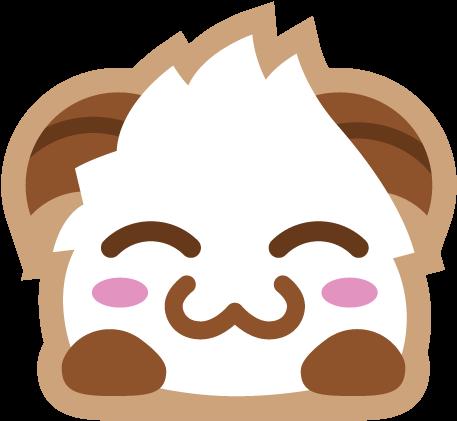 Poro Sticker Blush - Emoji League Of Legends Discord | Full