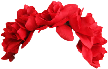 Transparent Flower Crown Red Red Flower Crown Transparent Full