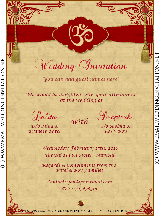 Indian Wedding Invitation Card Template Editing