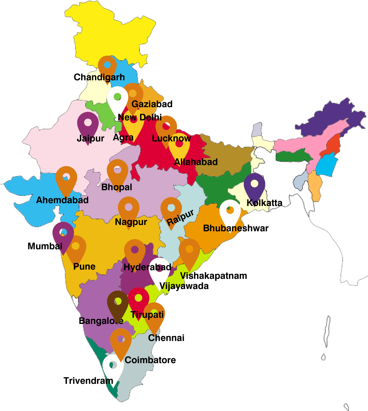 full size india map all state name India Map India State Name List Full Size Png Download Seekpng full size india map all state name