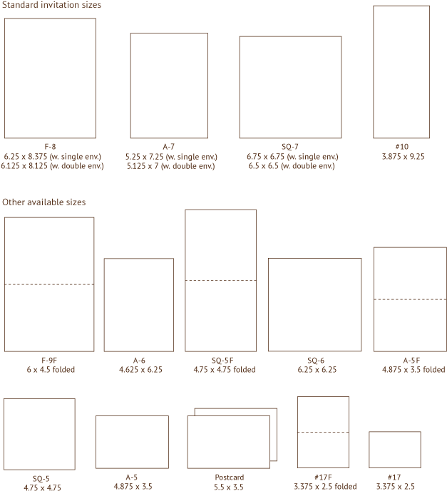 Invitation Sizes Also On This Page Envelope Styles